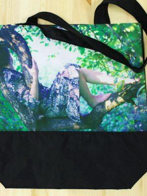 Сумка-авоська черная. Ксения Плотникова